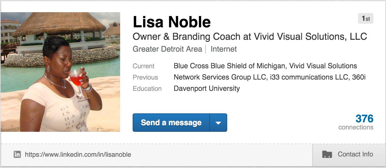 Linkedin unprofessional profile pic
