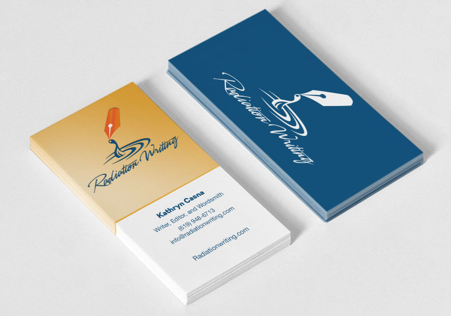 Radiation Writing business Cards