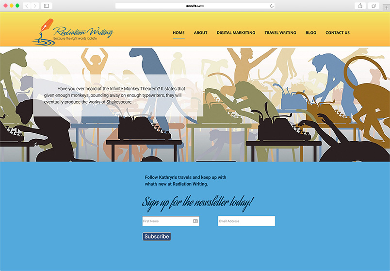 Radiation Writing website
