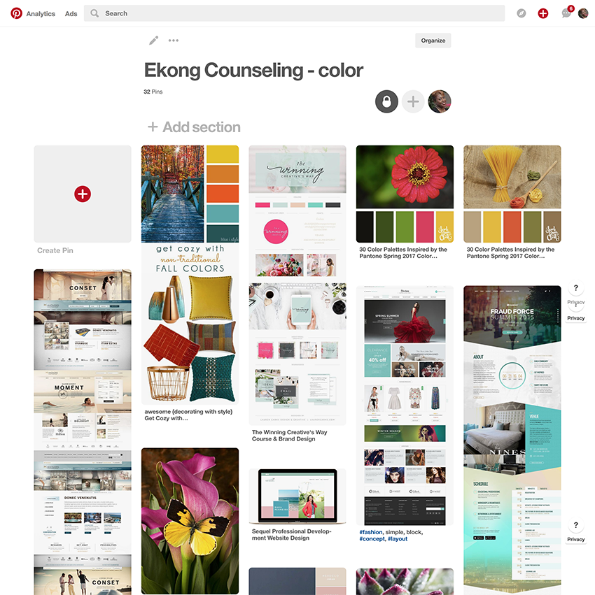 Ekong Counseling Center Pinterest inspiration board