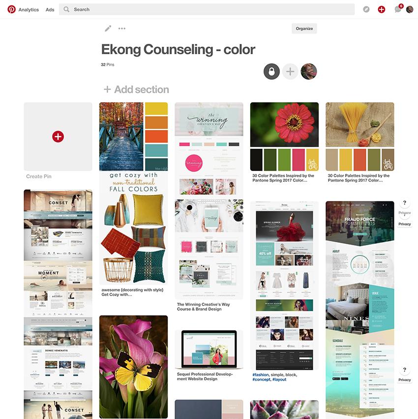 Ekong Counseling Center Pinterest inspiration board