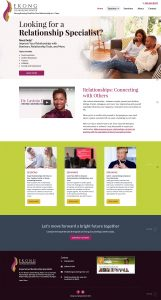 Ekong Counseling Center website Design-Home page