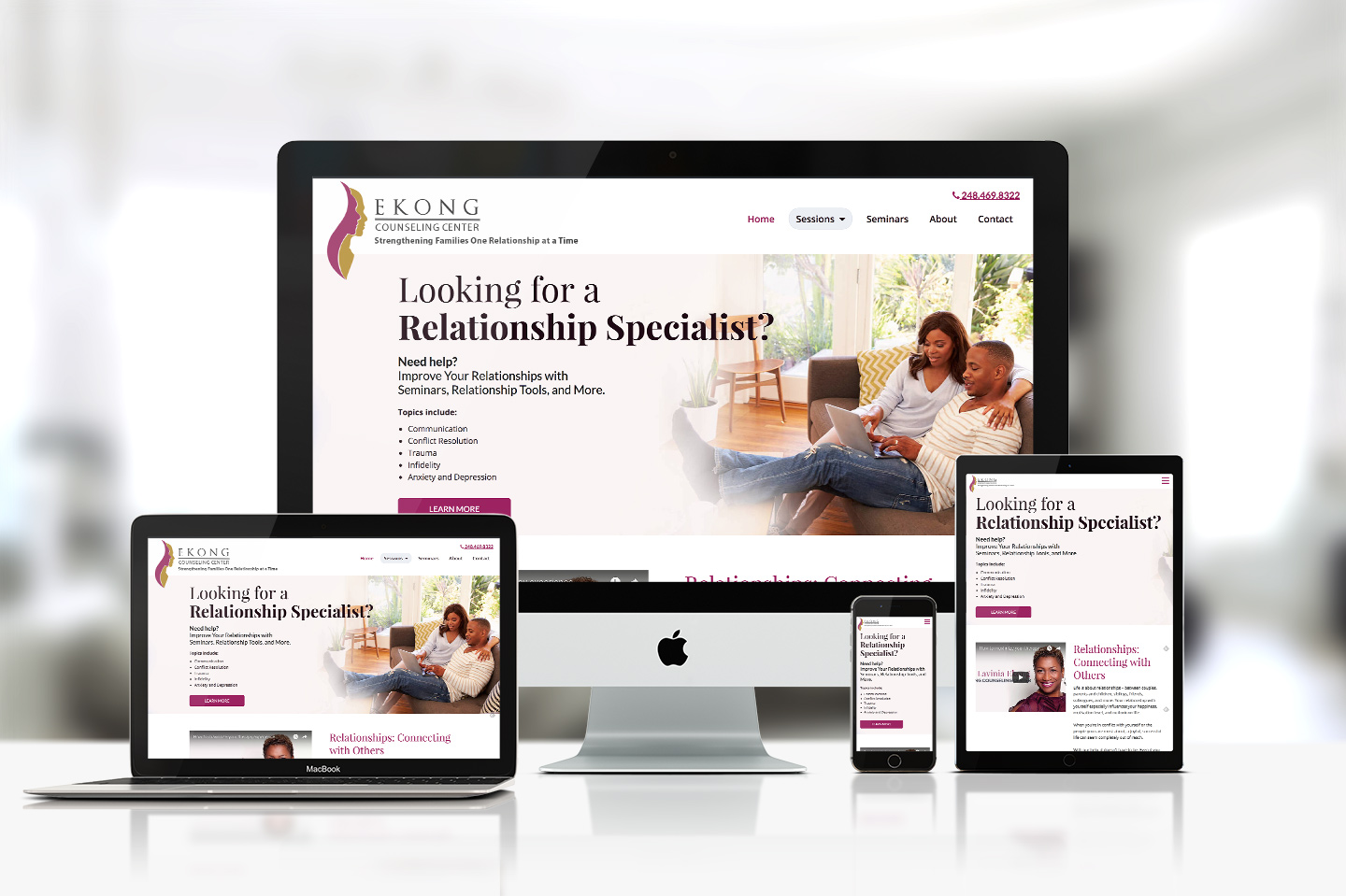 Ekong Counseling Center Responsive Website Design