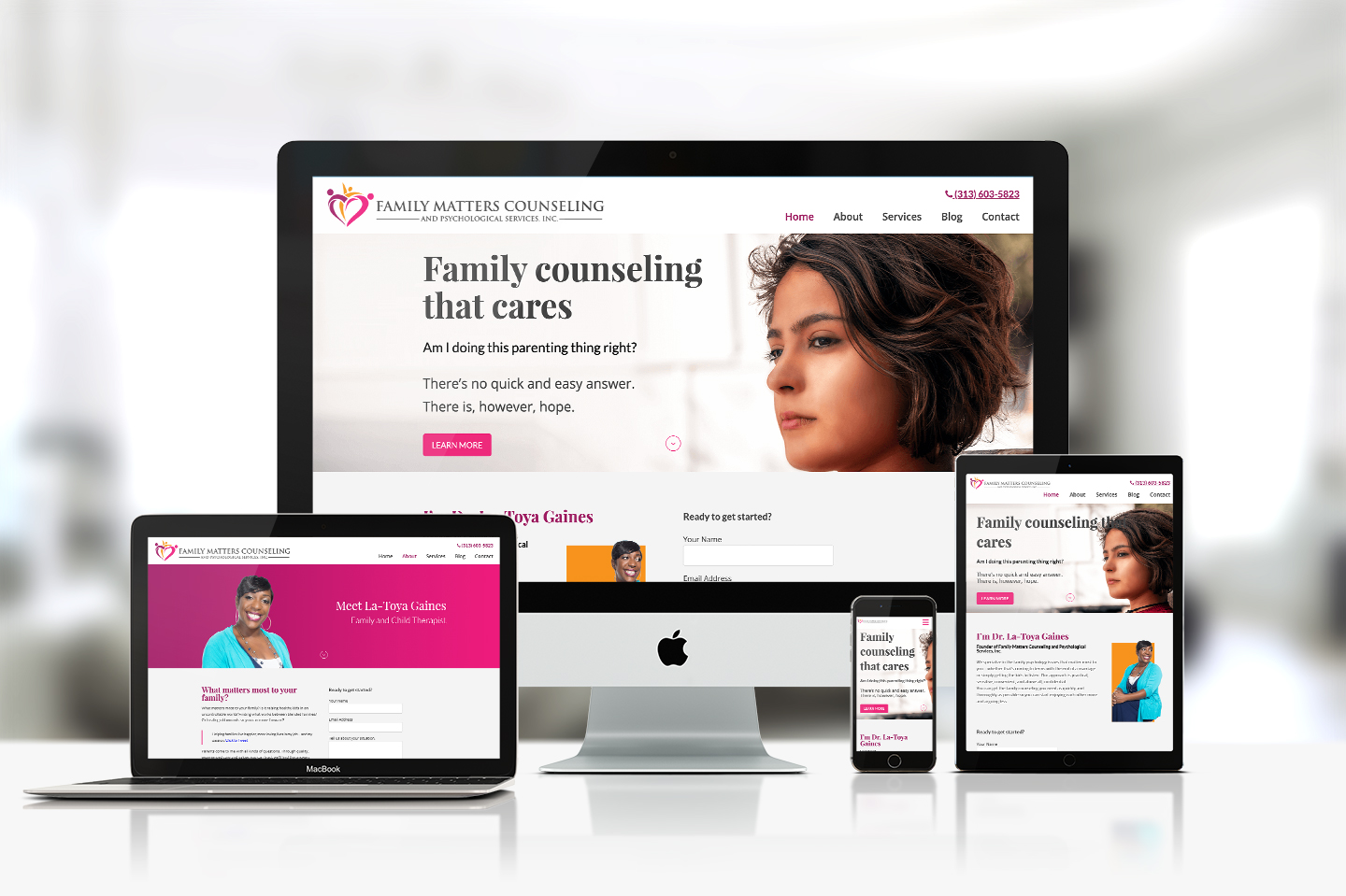 Family Matters Counseling - Brand and Web Design