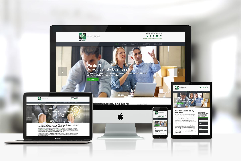 IC Data Communications - web design