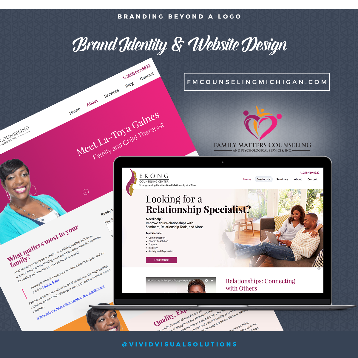 Family Matters Counseling Brand Identity & Website Design