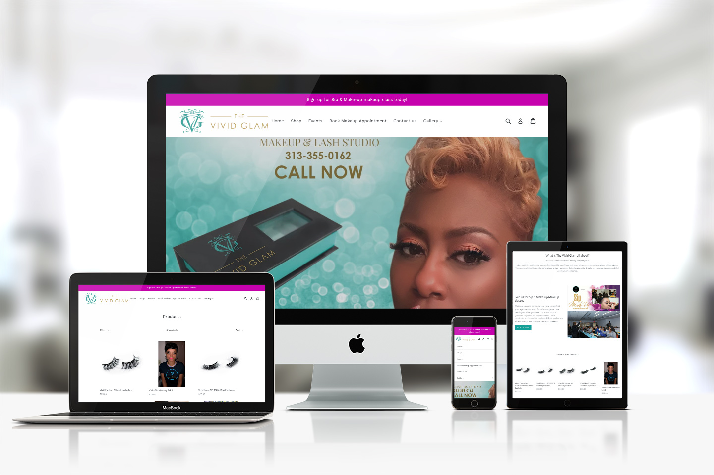 The Vivid Glam Beauty Responsive website